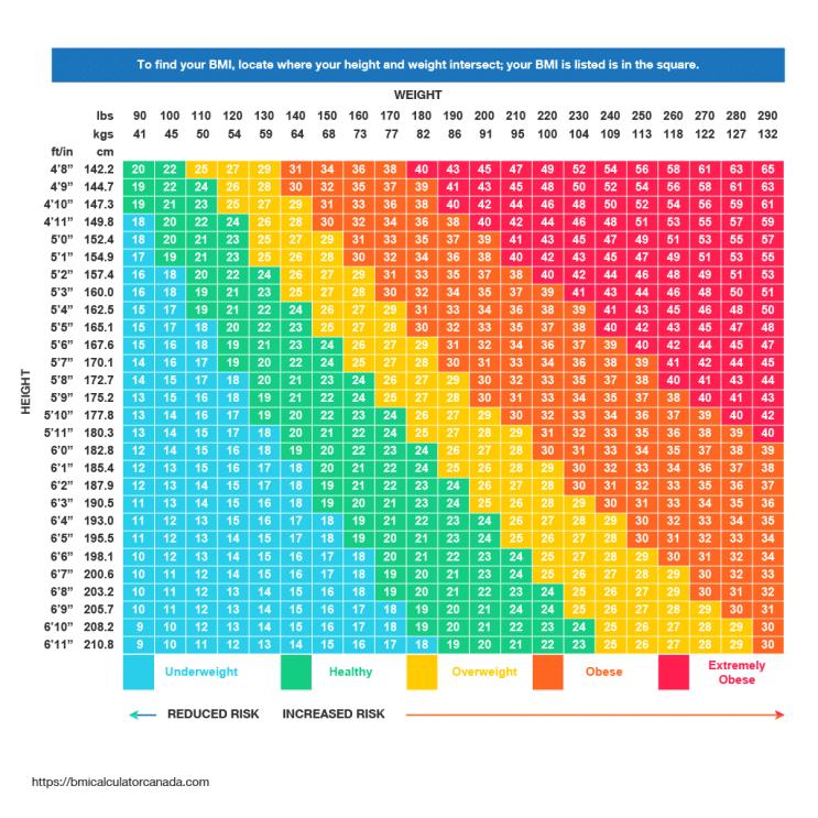 BMI Chart Canada